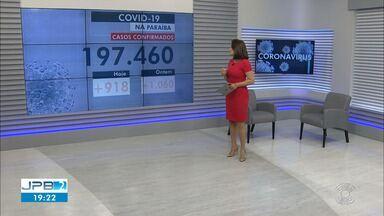 Paraíba tem 197.460 casos confirmados por coronavírus - Dados são do Boletim Epidemiológico deste sábado (6)