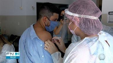 Profissionais de clínicas particulares são vacinados contra a Covid-19 - Imunização foi realizada em Dracena.