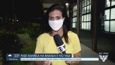 Praia Grande publica decreto sobre flexibilização na fase amarela - Baixada Santista avançou para a fase amarela no Plano São Paulo.