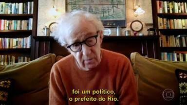 Woody Allen fala sobre a possibilidade de fazer um filme no Rio de Janeiro - Diretor confessa que nunca esteve no Brasil, mas não descarta a ideia. Ele revela sua admiração por Machado de Assis e comenta por que as pessoas acreditam que seus personagens são seu 'alter egos'