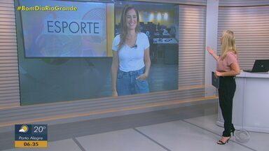 Confira os destaques do esporte no Bom Dia Rio Grande desta terça-feira (9) - Renato Gaúcho elogia desempenho do Grêmio em partida, mas diz que o time ainda tem muito para melhorar. Já o Inter, deve continuar com Tiago Galhardo no elenco.