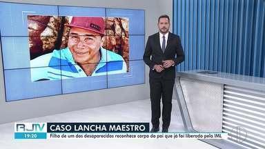 Corpo de um dos desaparecidos em lancha no litoral do Rio é identificado - Filho do pescador Wilson Martins reconheceu pertences do pai. Identificação foi feita por digitais da vítima.