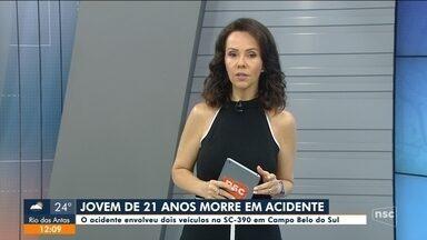 Jovem morre em acidade na SC-390 na Serra catarinense - Jovem morre em acidade na SC-390 na Serra catarinense