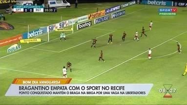 Bragantino esbarra na retranca do Sport e fica no 0 a 0 - Massa Bruta garantiu vaga na Sul-Americana.