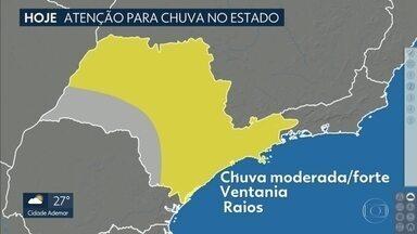 Instabilidades ganham força no estado de São Paulo - Veja também: como ficam a chuva e as temperaturas nos próximos dias, na capital.