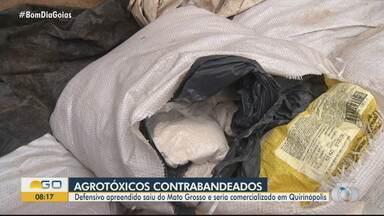 Polícia apreende agrotóxico contrabandeado, em Goiás - Defensivo saiu do Mato Grosso e seria comercializado em Quirinópolis.