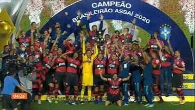 Flamengo é campeão brasileiro pelo segundo ano seguido - Veja os gols, os lances, tudo sobre a última rodada do Brasileirão. Rubro-negro foi campeão mesmo com a derrota para o São Paulo.