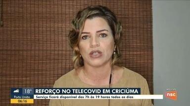 Criciúma amplia serviço do Telecovid - Criciúma amplia serviço do Telecovid