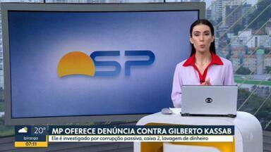 MPF registra denúncia contra Gilberto Kassab, do PSD - Kassab é investigado por corrupção passiva, caixa 2 e lavagem de dinheiro.