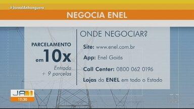Enel negocia o parcelamento de dívidas sem juros e multas - Dívidas podem ser parceladas em até 10 vezes.