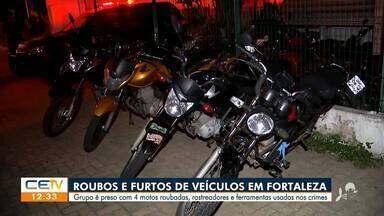 Roubos e furtos de veículos em Fortaleza - Saiba mais em g1.com.br/ce