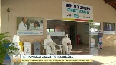 Pernambuco amplia medidas para conter alta de contaminações por Covid - Novas restrições, que incluem o fechamento de atividades não essenciais nos finais de semana, valem até 17 de março