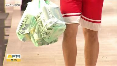 Lei para o uso de sácolas plástica ja está valendo em Belém - Proibido o uso de sacolas plásticas em supermercados.