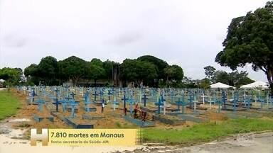 Em 2021, a Covid já provocou 1.050 mortes a mais do que todo o ano passado em Manaus - Até ontem, morreram 4.430 pessoas. Em 2020, foram 3.380.
