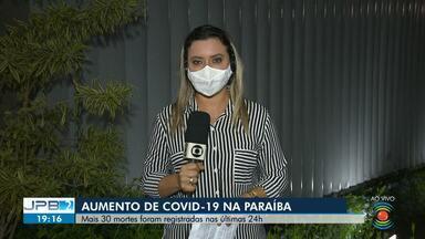 30 mortes pela Covid-19 são registradas nas últimas 24h na Paraíba - Confira todos os detalhes divulgados pela Secretaria de Saúde do Estado.