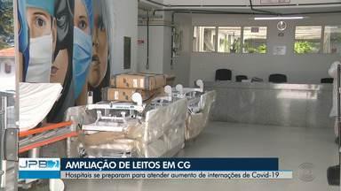 Hospitais se preparam para atender aumento de internações de Covid-19 em Campina Grande - O Hospital de Clínicas da cidade já está com as UTI's lotadas.
