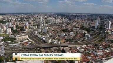 Minas Gerais tem duas regiões com medidas mais restritivas por 15 dias - A decisão vale para 60 cidades que ficam no Triângulo Norte e Noroeste do estado.