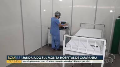 Jandaia do Sul monta hospital de campanha - A instalação conta com 10 leitos que vão atender 24 horas por dia.