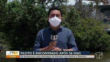Piloto desaparecido há 36 dias é encontrado com vida na divisa entre o PA e o AP - 'Toninho' Sena deve ser resgatado ainda neste sábado, 6.