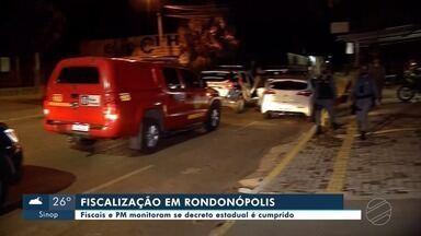 Fiscalização percorre Rondonópolis para garantir cumprimento das medidas do decreto - Fiscalização percorre Rondonópolis para garantir cumprimento das medidas do decreto