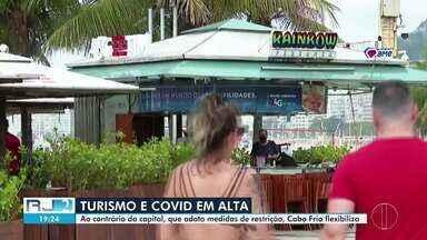 Ao contrário da capital, Cabo Frio flexibiliza setores - Medidas do município vão contra os números da Covid-19, que seguem altos.