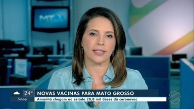 MT recebe mais uma remessa de vacinas nesta quarta-feira - MT recebe mais uma remessa de vacinas nesta quarta-feira.