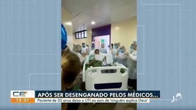 Homem desenganado pelos médicos consegue se recuperar da Covid-19 - Saiba mais em g1.com.br/ce