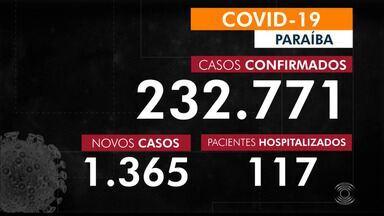 Paraíba tem 232.771 casos confirmados por coronavírus - Dados são do boletim epidemiológico dessa quarta-feira (10)
