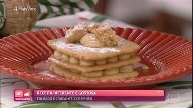 Falso Folhado de Paçoca - Sobremesa é feita com poucos ingredientes. Confira como fazer a receita de Ana Maria Braga