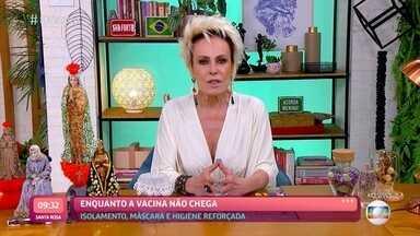 Programa de 11/03/2021 - Ana Maria Braga conta as últimas novidades do BBB21 e se diverte com os desafios e brincadeiras que estão bombando na internet com o 'Feed da Ana'. A receita do dia é um falso folhado de paçoca