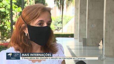 Campinas aponta três faixas etárias com maior número de internações causadas pela Covid-19 - Secretária de Saúde alerta para aumento de casos mais graves da doença.
