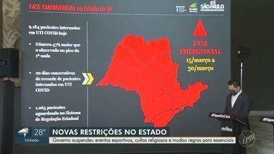 Governador de SP anuncia restrições mais duras a partir de 15 de março - Medida foi tomada por conta do aumento de casos, internações e mortes causadas pela Covid-19.