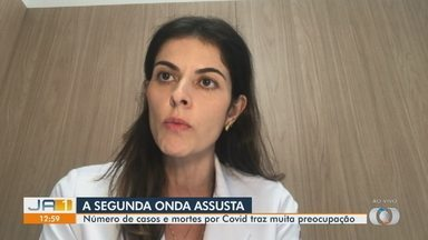 Número de casos e mortes por Covid traz preocupação para médicos em Goiás - Infectologista fala sobre segunda onda.