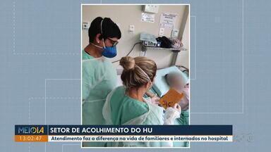 Setor de acolhimento do HU aproxima pacientes internados com Covid-19 de familiares - Com suspensão das visitas por conta da pandemia, o projeto oferece videochamadas e boletim diário.