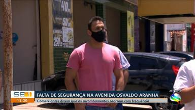 Comerciantes reclamam da falta de segurança na Avenida Osvaldo Aranha, em Aracaju - Comerciantes reclamam da falta de segurança na Avenida Osvaldo Aranha