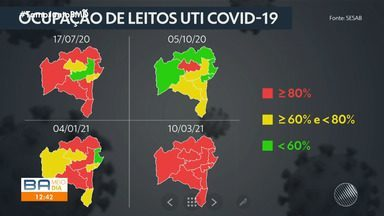 Confira a taxa de ocupação de leitos de UTI no tratamento da Covid-19 no estado - Saúde pública vive momento crítico por causa da pandemia do coronavírus.