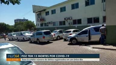 Foz do Iguaçu tem doze mortes por Covid-19 em um único dia - Esse é o maior número de óbitos registrados em um único dia.