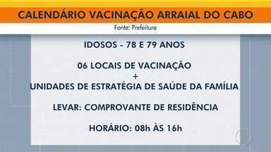 Arraial do Cabo divulga calendário de vacinação contra a Covid-19 - Cidades divulgaram novo calendário. Veja como fica em Arraial do Cabo.