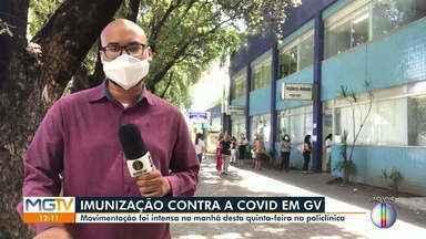 Vacinação contra Covid-19 é realizada na Policlínica em Governador Valadares (Parte 1) - Veja movimentação.