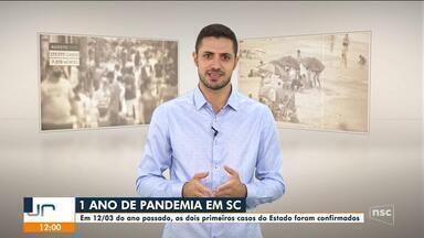 Um ano de pandemia em Santa Catarina - Um ano de pandemia em Santa Catarina