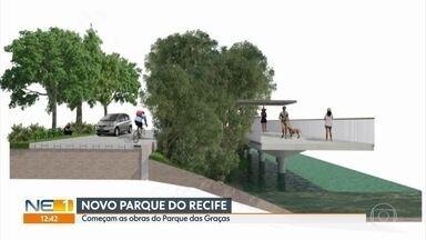 Começam as obras para construção do Parque das Graças, no Recife - Novo parque vai ficar entre as pontes da Torre e da Capunga, fazendo parte do projeto da prefeitura para o Rio Capibaribe.