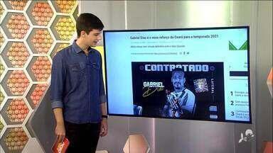 Ex-Fortaleza, Gabriel Dias é apresentado como novo reforço do Ceará - Saiba mais em ge.globo/ce.