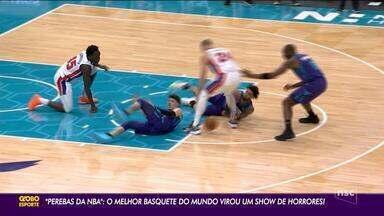 Perebas da NBA, melhor basquete do mundo tem show de horrores - Perebas da NBA, melhor basquete do mundo tem show de horrores