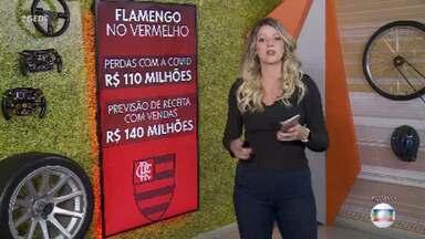 Flamengo deixa de ganhar R$ 110 milhões com Covid-19 - A pandemia teve um efeito devastador no mundo e também na economia dos clubes. O Flamengo fez as contas e concluiu que deixou de ganhar no último ano R$ 110 milhões como efeito direto da Covid, principalmente com a ausência de bilheteria e queda brusca no número de sócios-torcedores - de 150 mil para 61 mil.