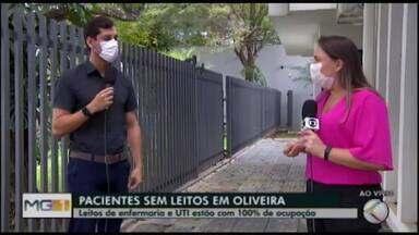 Leitos de UTI e enfermaria chegam a 100% de ocupação em Oliveira - Situação já ocorre em outras cidades estado. Secretário Municipal de Saúde, Lucas Lasmar, falou sobre o assunto em entrevista ao MG1.