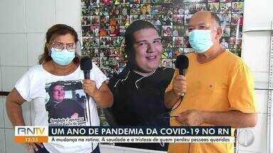 Um ano de pandemia no RN: a saudade e tristeza de quem perdeu pessoas queridas - Um ano de pandemia no RN: a saudade e tristeza de quem perdeu pessoas queridas