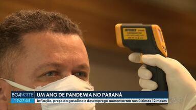Paraná completa um ano de pandemia - Estado passou por muitas transformações nesse período.