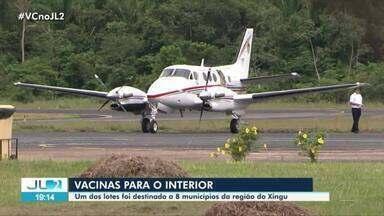 Chega a Altamira mais um lote de vacinas contra Covid-19 - Carregamento foi transportado em avião do Graesp.