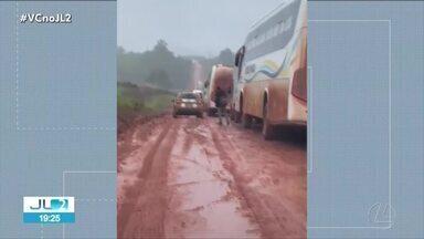 Chuvas castigam oeste do Pará e complica trânsito na rod. Transamazônica - Trecho entre Placas e Rurópolis é praticamente intrafegável.