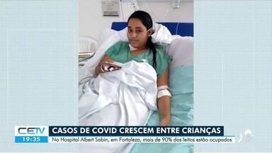 Casos de Covid crescem em crianças - Confira mais notícias em g1.globo.com/ce
